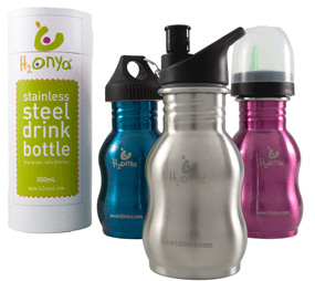 H2 Onya stainless steel bottles