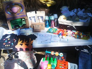 Itty Bitty Greenie's stall at the Pink Morning Tea