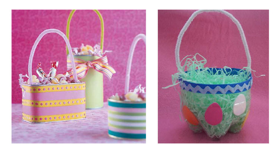 1 UPCYCLED EASTER BASKETS