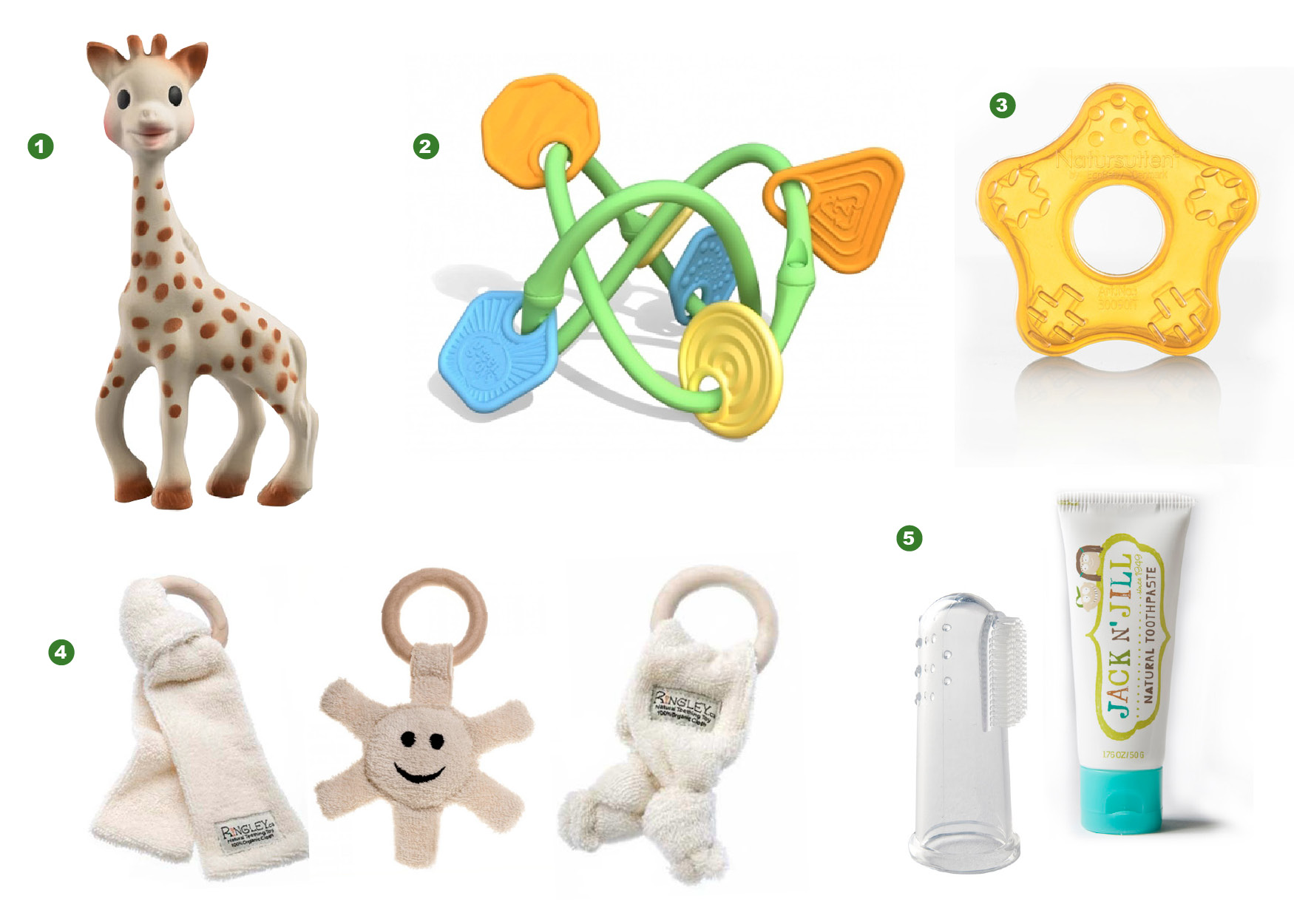 Safe teething toys itty bitty greenie