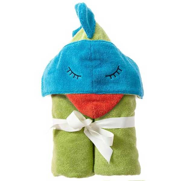Breganwood Organic Hooded Towel - Funny Bird
