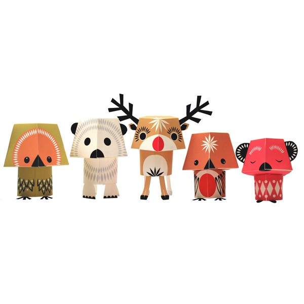 Recycled Paper Animals – Christmas Creatures