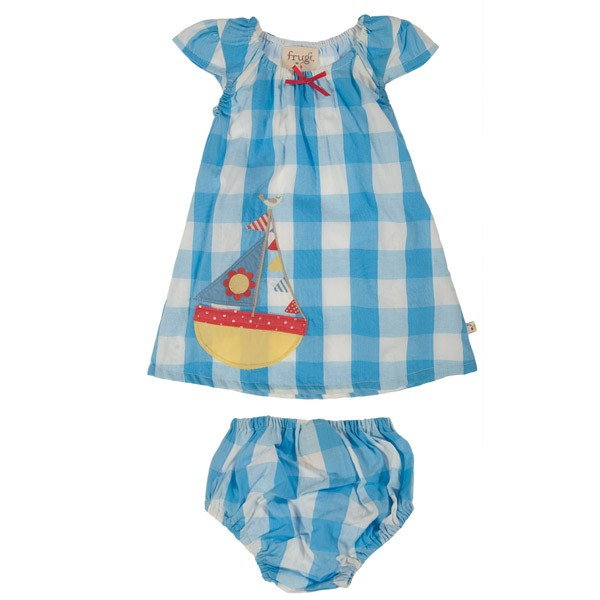 Organic Dress Set - Cornish Blue