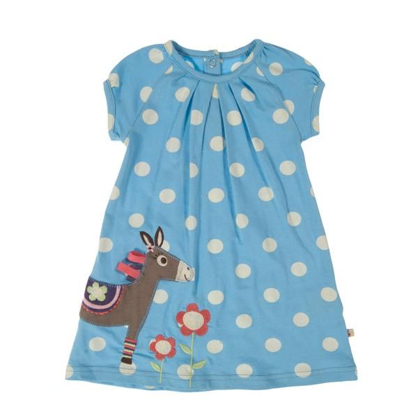 Baby Lucy Dress - Blue Spot