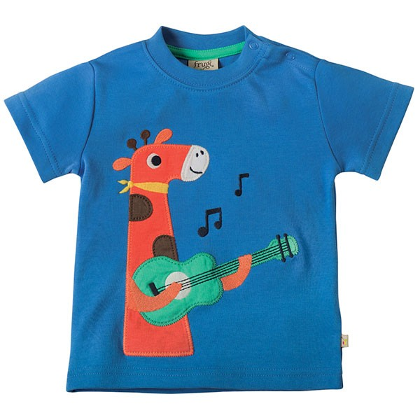 Frugi Organic Musical Giraffe T-Shirt