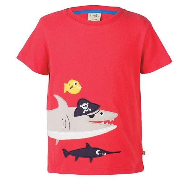 Frugi Organic Shark T-Shirt