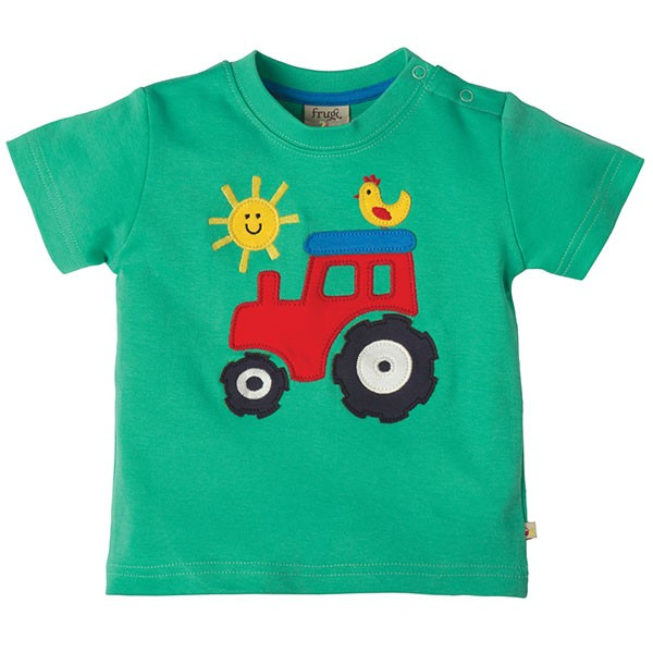 Frugi Organic Little Tractor T-Shirt
