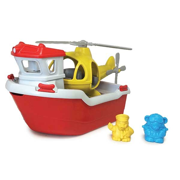 Green Toys Rescue Boat and Helicopter