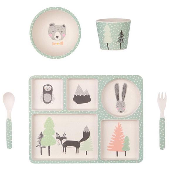 Bamboo 5 Piece Dinnerware set - Fox and Friends