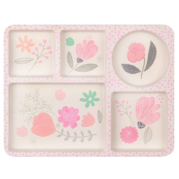 Bamboo 5-piece Dinnerware set - Flower Garden