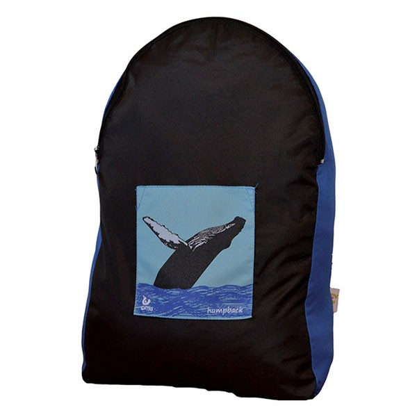 Backpack - Onya - Black/Teal Whale
