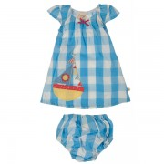 Organic Dress Set - Cornish Blue
