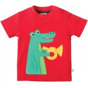 Frugi Organic Musical Crocodile T-Shirt