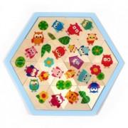 hess spielzeug mosaic owl puzzle