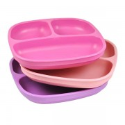 Re-Play Divided Plates - 3-Pack - Pink & Purple