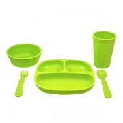 Re-Play Toddler Feeding Set - Green