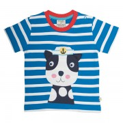 Frugi Organic T-Shirt Beton Pirate Dog