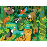 Petitcollage Wild Rainforest Floor Puzzle