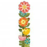 Petite Collage Growth Chart - Garden Flowers