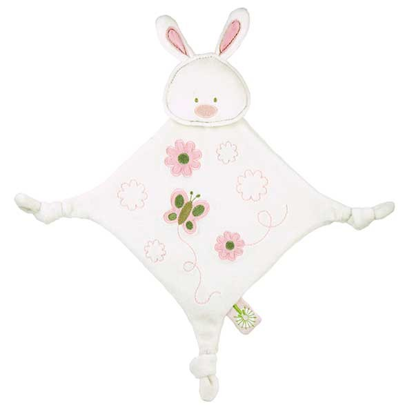 Pink Bunny Teething Blanket