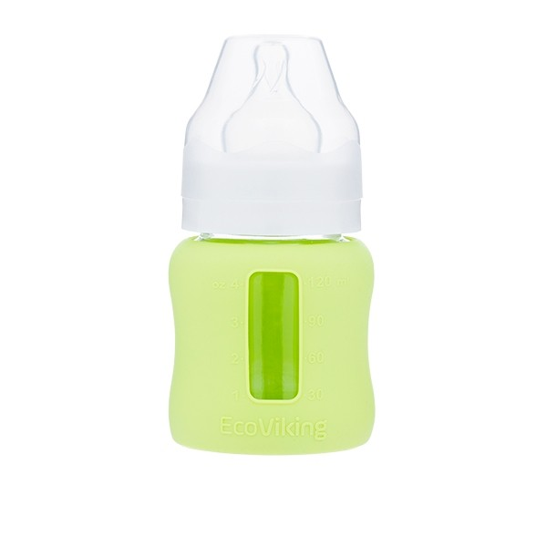 EcoViking Glass Baby Bottle 120ml Wide Neck