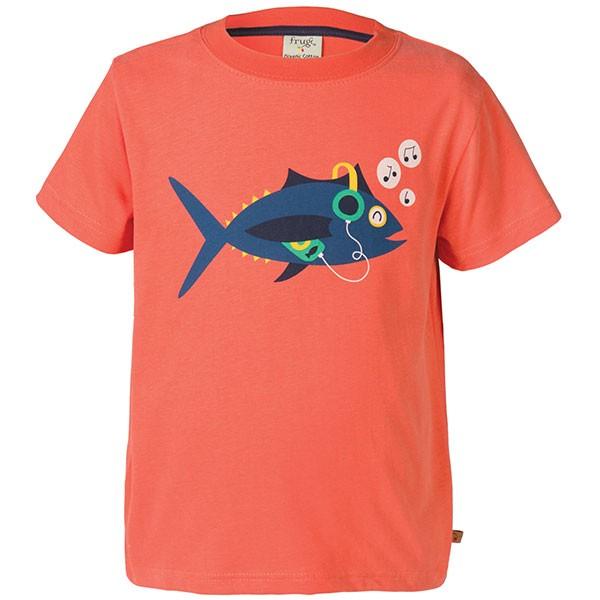 Frugi Organic Fish T-Shirt Orange