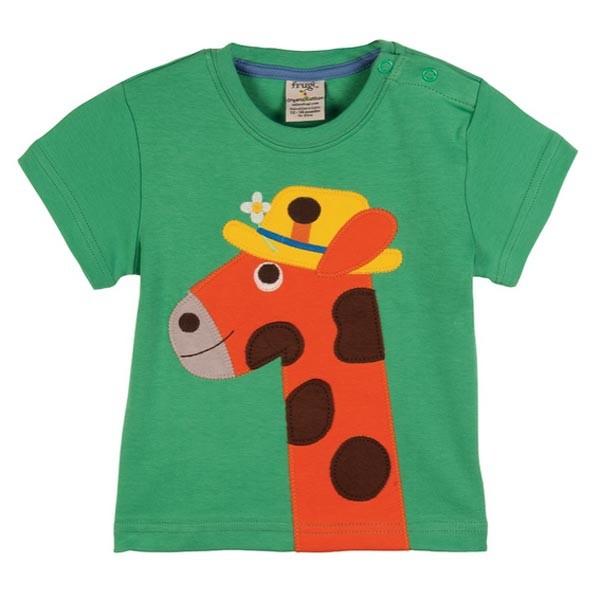 Frugi Organic T-shirt – Giraffe