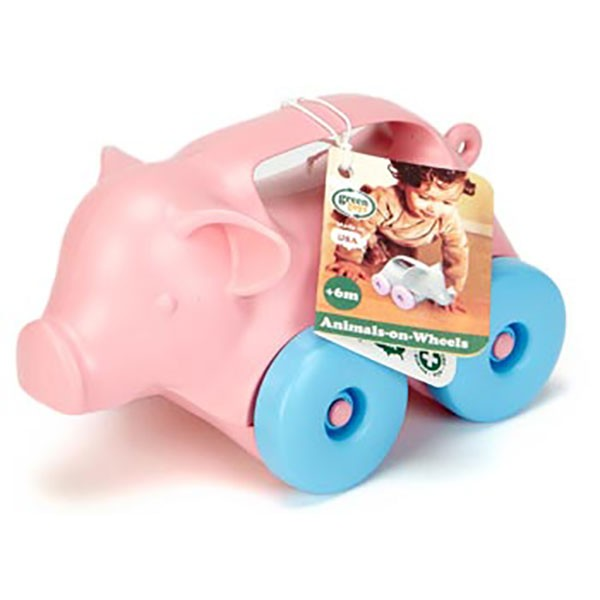 Green Toys Pig Push Toy