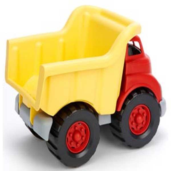 Green toys dump truck back