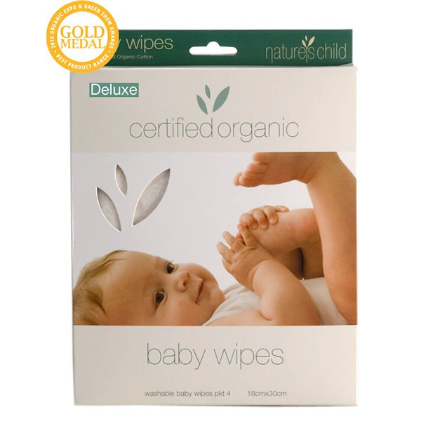 Organic Cotton Baby Wipes- 4 Pkt