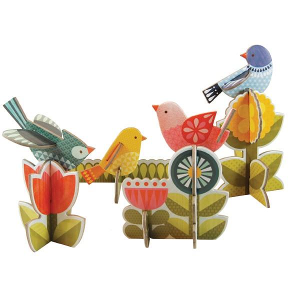 Petit Collage Pop-out Birds