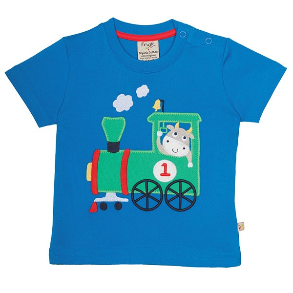 Frugi Organic T-Shirt Train