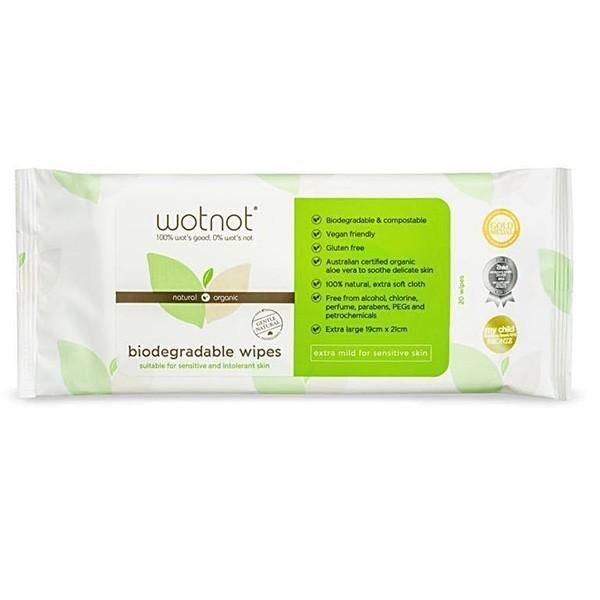 WotNot Bio Baby Wipes 20's Refill Pack
