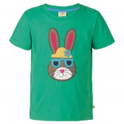 Frugi Organic Green Rabbit T-Shirt