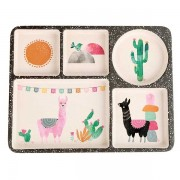 Llamarama 5-piece dinnerware set