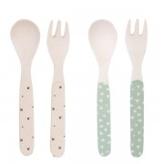 Bamboo 4pk Cutlery - Star Mix