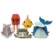Recycled Paper Animals – The Marine Team