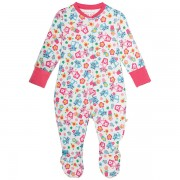Frugi Organic Babygrow Cat Friends
