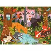 Petitcollage Enchanted Woodland Floor Puzzle